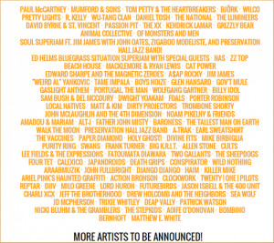 Bonnaroo 2013 Lineup Announced